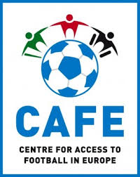 Logo Cafe - Centre for access to football in europe mit Link zur Website http://www.cafefootball.eu/de