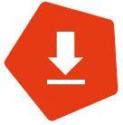 Link zu https://inklusion-fussball.de/downloadbereich. Oranges Fünfeck mit weißem Pfeil, welcher auf eine weiße Linie zeigt.