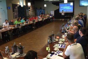 Teilnehmer der Lokalkonferenz beim FC Schalke 04