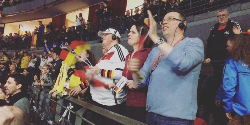 sehbehinderte Fans bei der Handball WM