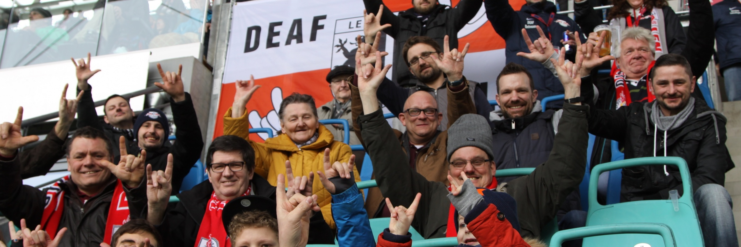 DEAF Fanclub RB Leipzig Fans auf der Tribüne
