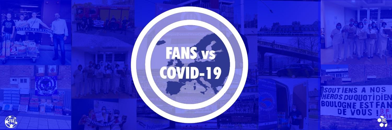 "Das Logo der ""Fans vs Covid-19""-Aktion."
