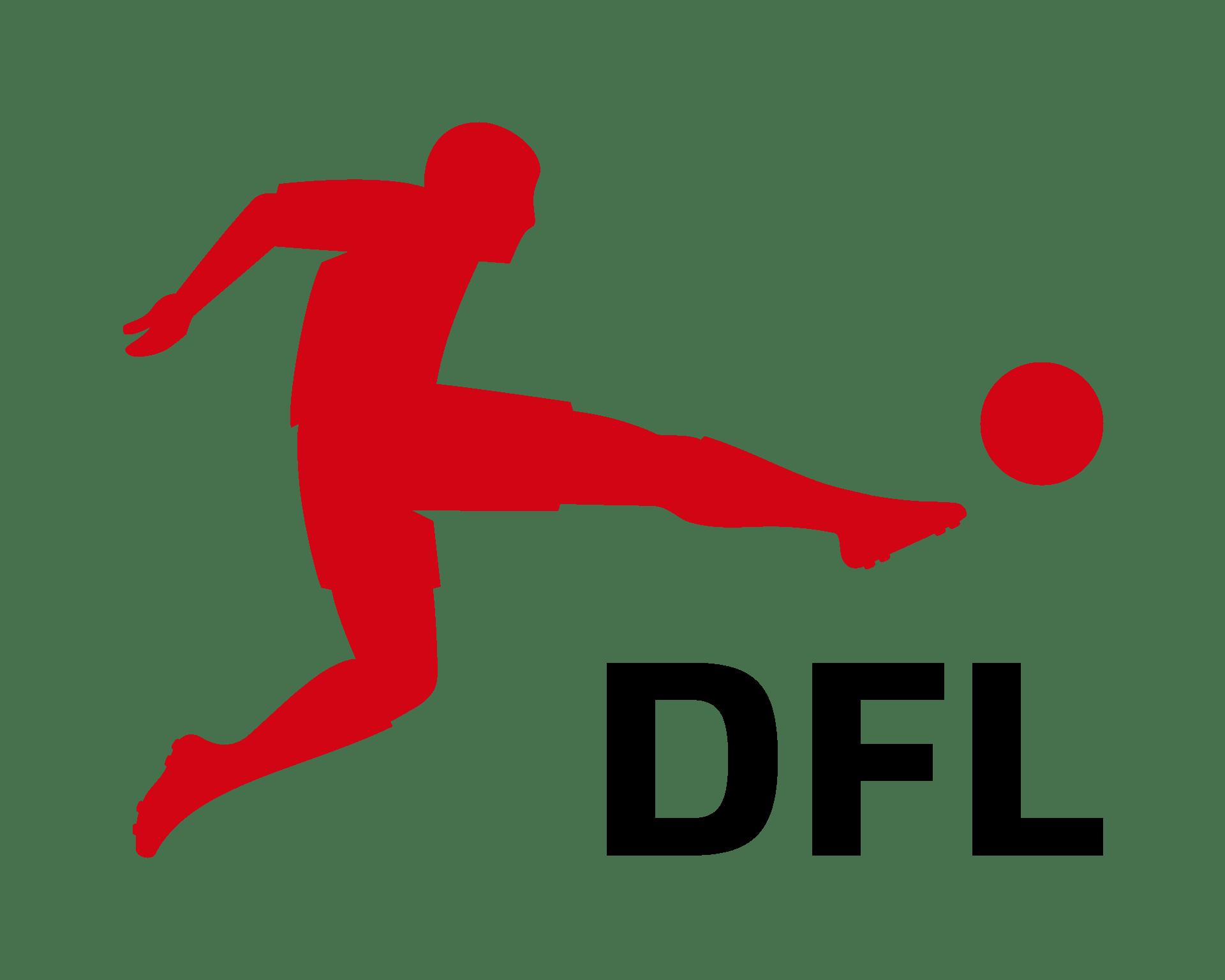 DFL-Logo mit Fußballer und DFL-SCchriftzug.