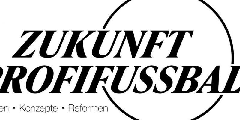 """""""Zukunft Profifußball - Ideen, Konzepte, Reformen""""-Logo mit einem Kreis."""